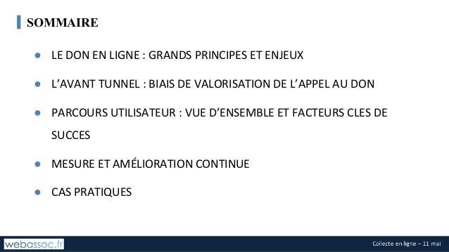 Le tunnel de don en ligne Slide 2