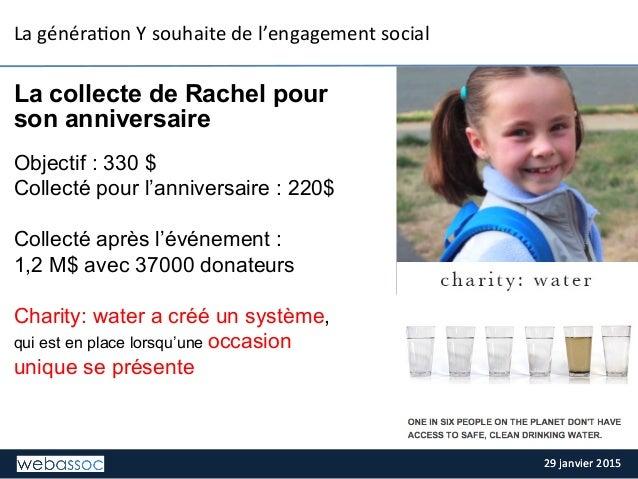 29  janvier  2015  29  janvier  2015   La  généra;on  Y  souhaite  de  l'engagement  social   La...