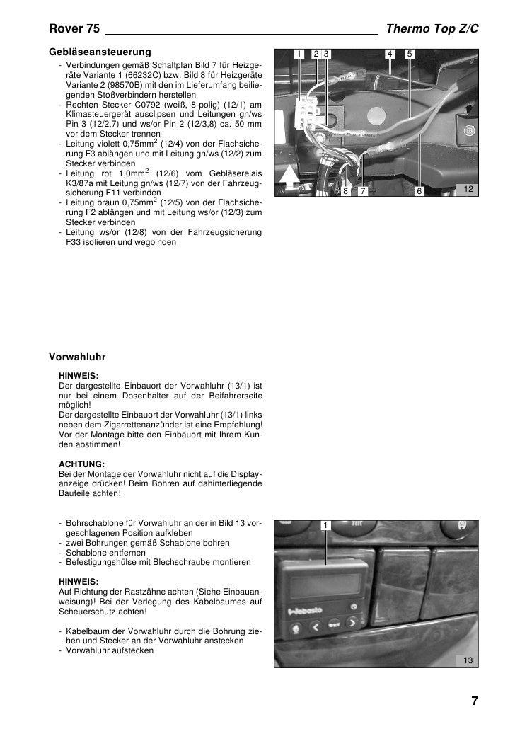 Ziemlich Rover 75 Schaltplan Zeitgenössisch - Elektrische Schaltplan ...