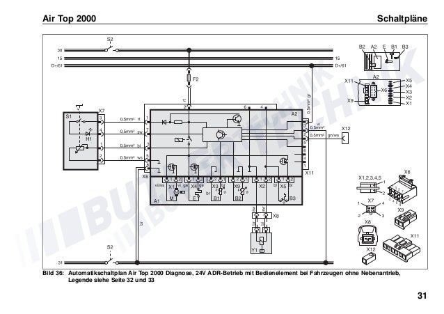 Webasto Heater Control instructions user Manual