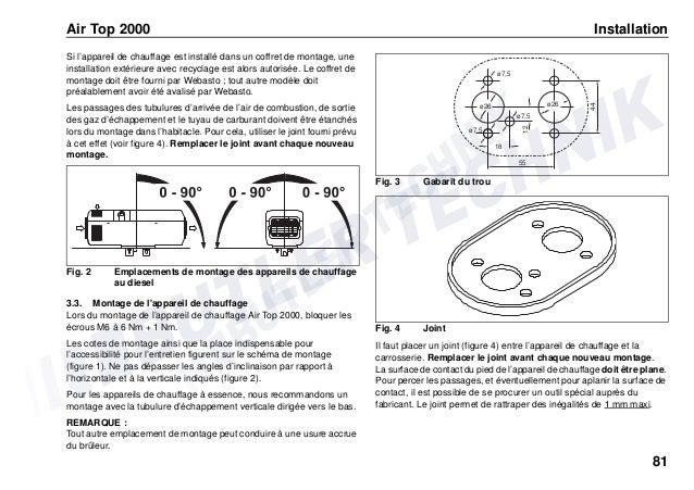 Schema Elettrico Webasto Air Top 2000 : Webasto airtop instructions