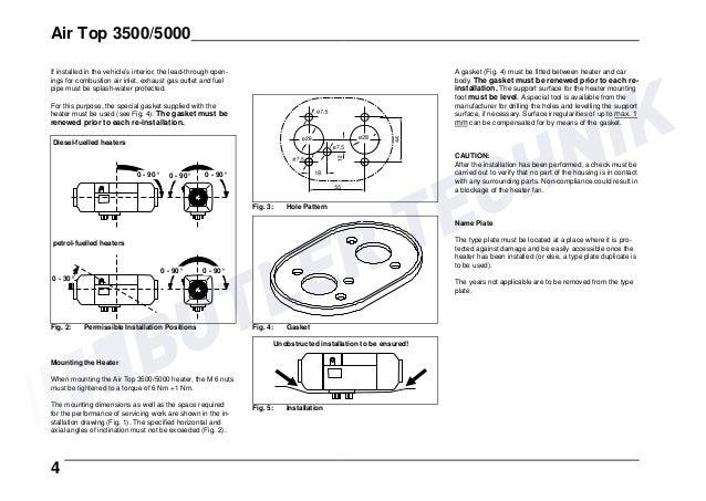 webasto diesel heater instructions