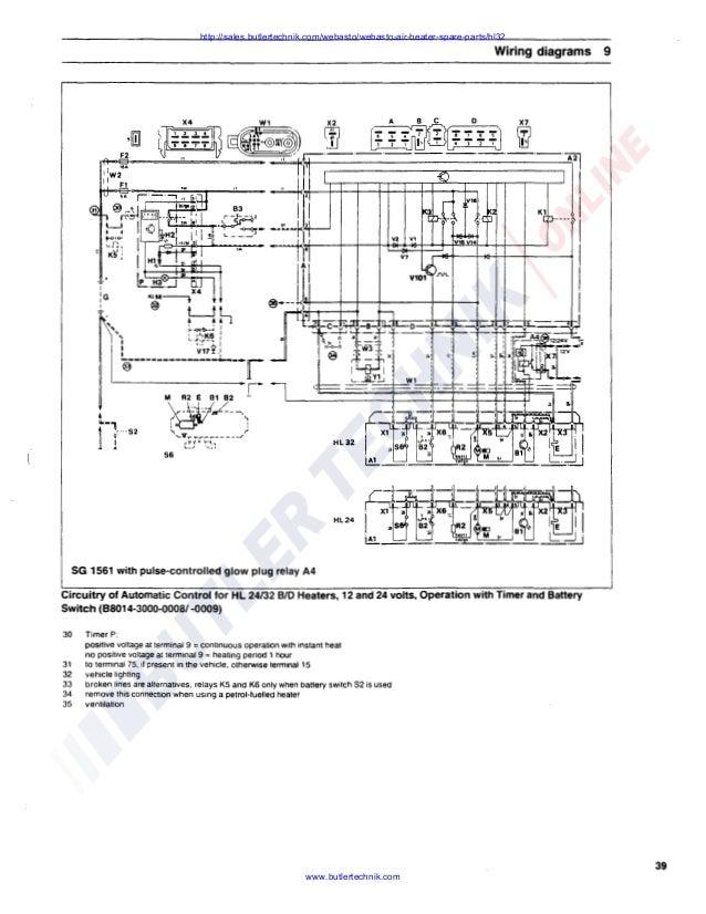Webasto Air Top HL32 D Workshop Manual