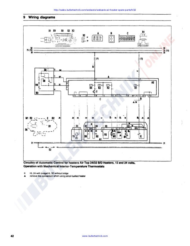 webasto heater wiring diagram webasto air top hl32 d workshop manual  webasto air top hl32 d workshop manual