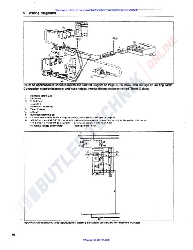 Webasto Air Top HL32 D Workshop Manual on