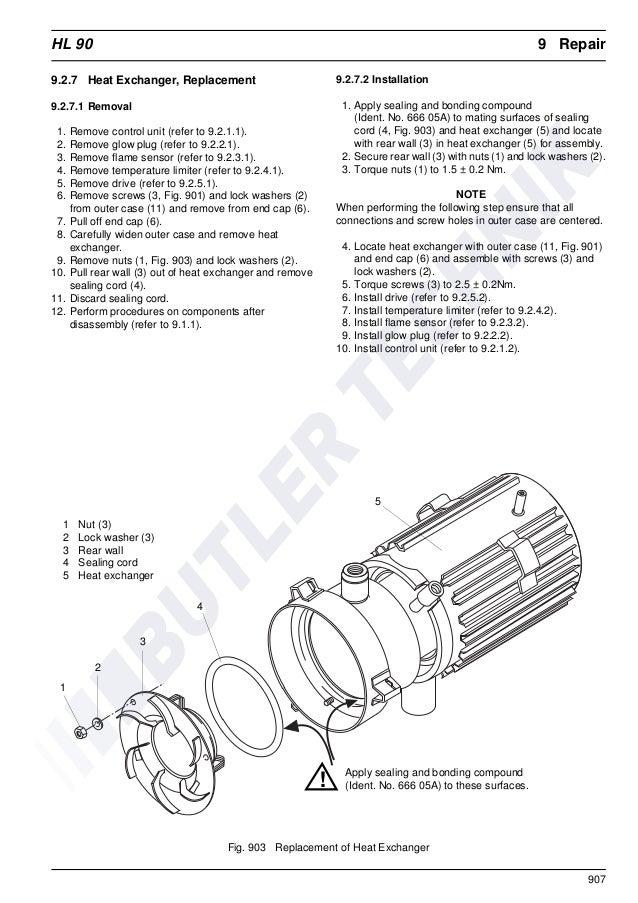 Webasto HL90 Workshop Manual