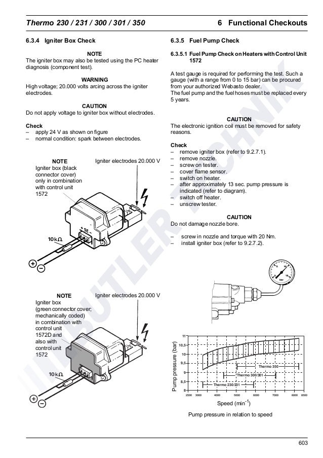 Webasto Thermo 300 Service Manual top Evo User