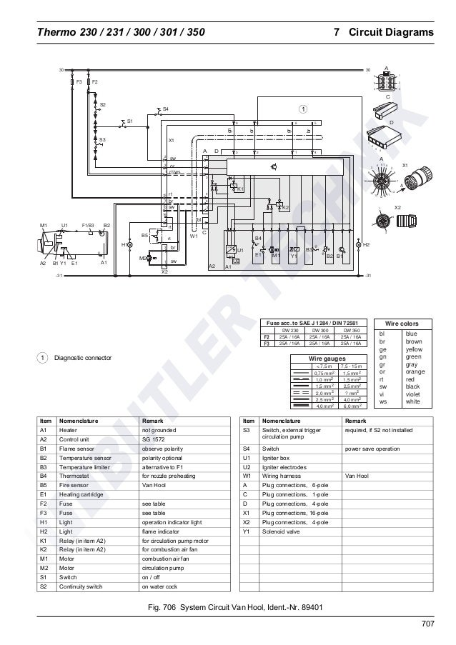 Webasto Thermo 230/300/350 Workshop Manual