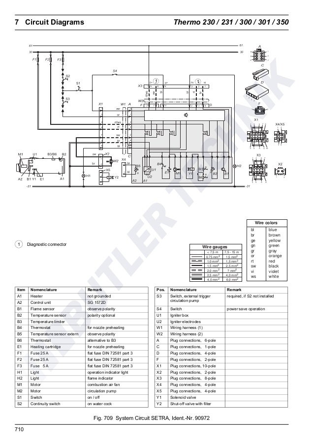 Webasto Thermo 230/300/350 Workshop Manual on