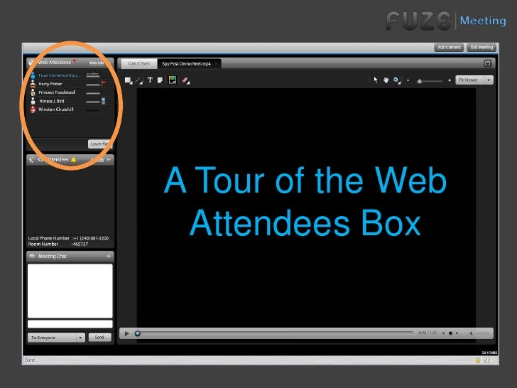 A Tour of the Web Attendees Box<br />