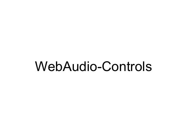 WebAudio-Controls