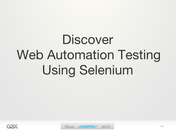 Discover Web Automation Testing    Using Selenium