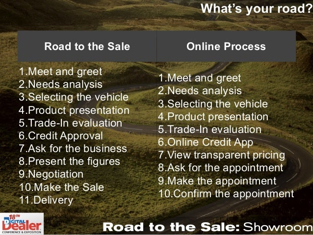 road to the sale