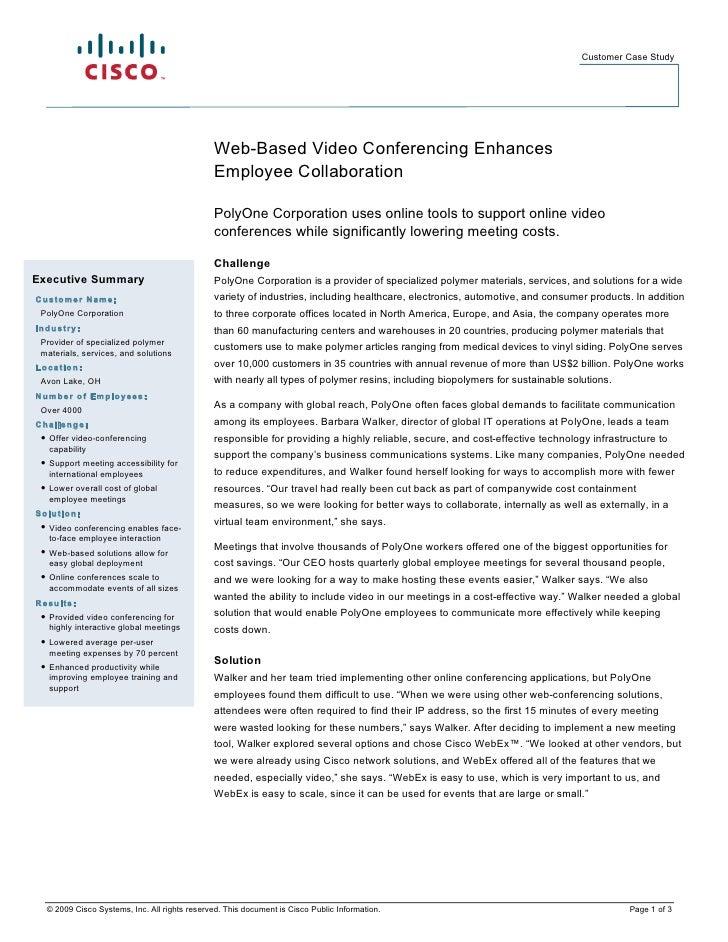 Customer Case Study                                                    Web-Based Video Conferencing Enhances              ...