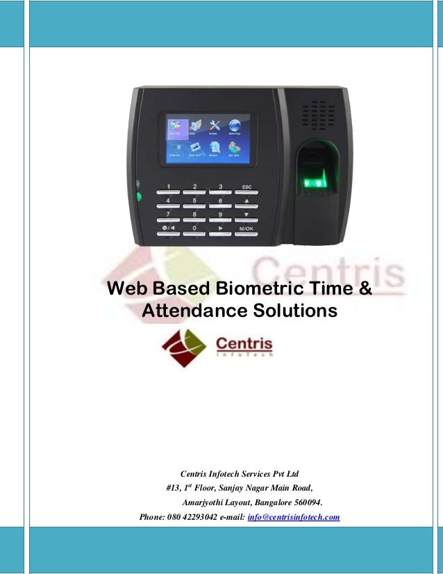 Web based biometric time and attendance software bangalore ...