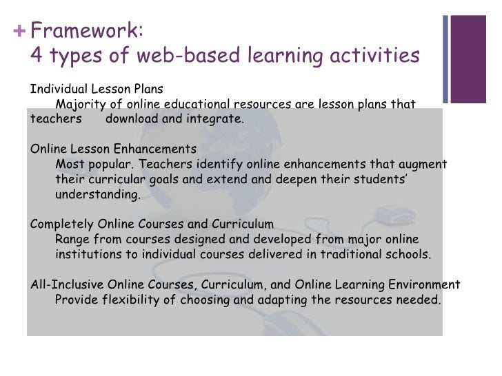 Web Based Learning Activities