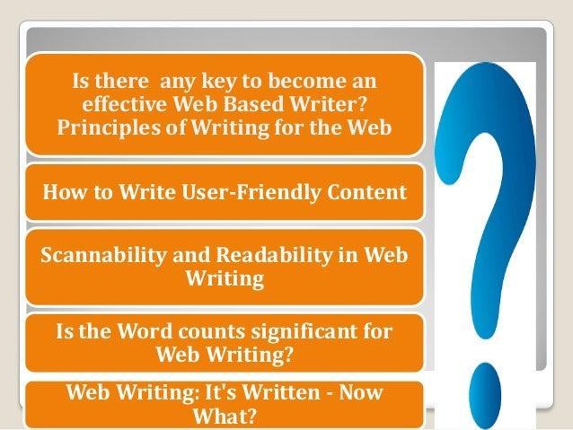 writing a web based application