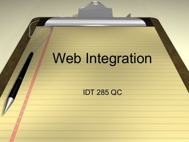 Web Integration IDT 285 QC