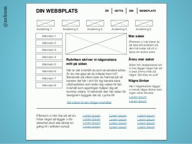 @axbom DIN WEBBPLATS ÄR DETTA DIN WEBBPLATS Rubriken skriver vi någonstans mitt på sidan Här är det i...