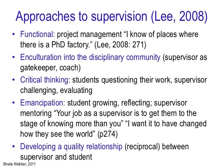 the doctoral thesis and supervision the student perspective This article provides an individual doctoral student's perspective on the  advantages  are required to constitute a phd thesis however, this is very  subject-dependent  she presents evidence that supervisory support for  publication is more.