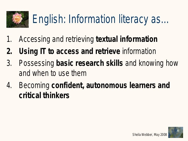 information literacy examples