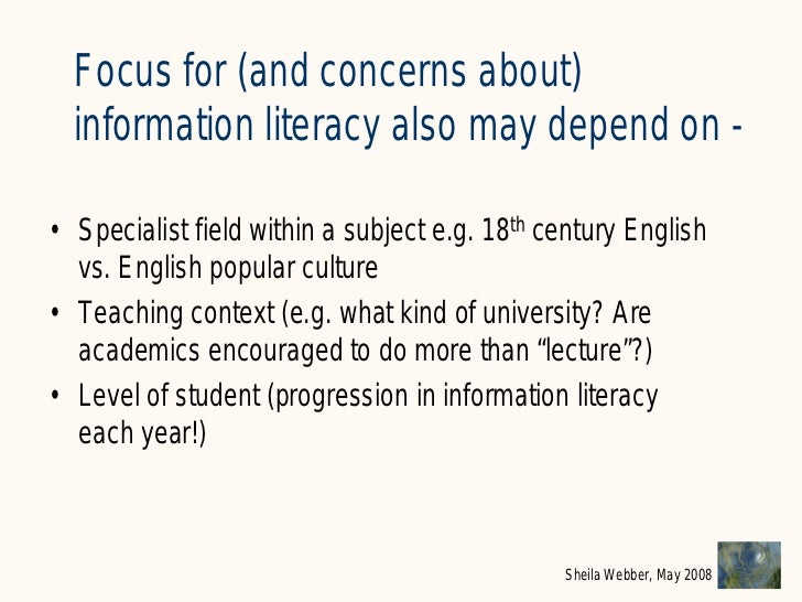 What does Information Literacy mean? Some examples from