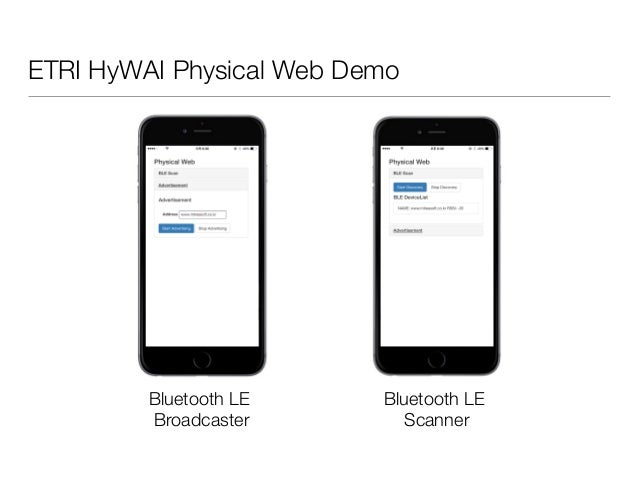 Web bluetooth API 와 Physical Web