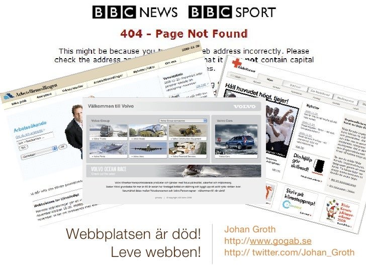 Johan Groth Webbplatsen är död!   http://www.gogab.se      Leve webben!     http:// twitter.com/Johan_Groth