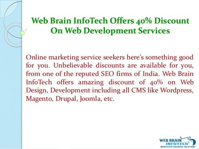 Web Brain InfoTech Offers 40% Discount On Web Development