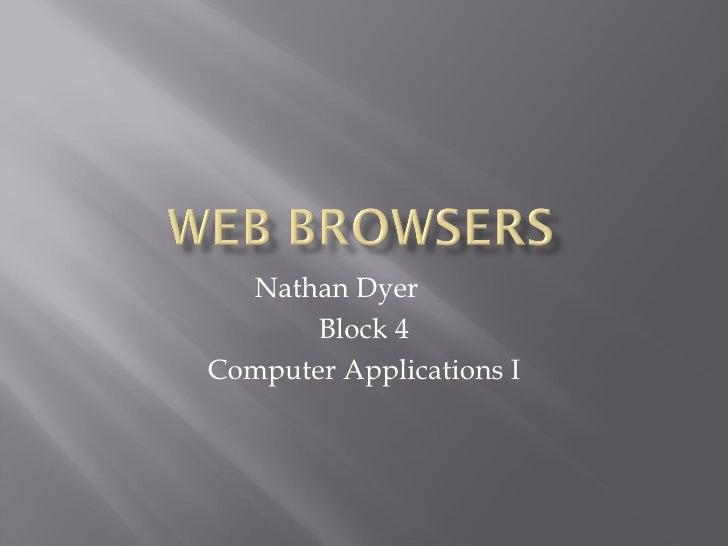 Nathan Dyer Block 4 Computer Applications I