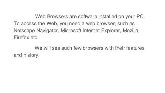 Types of Web Browser