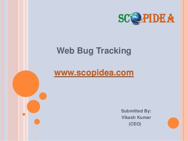 Web Bug Tracking www.scopidea.com Submitted By: Vikash Kumar (CEO)