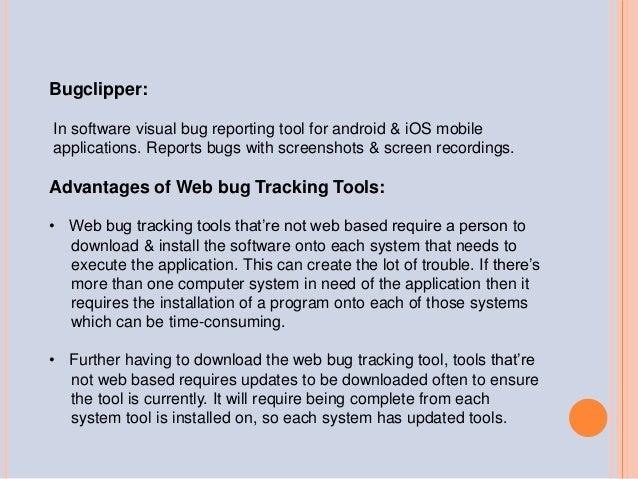 Web bug tracking