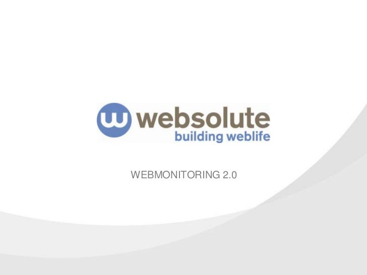 WEBMONITORING 2.0