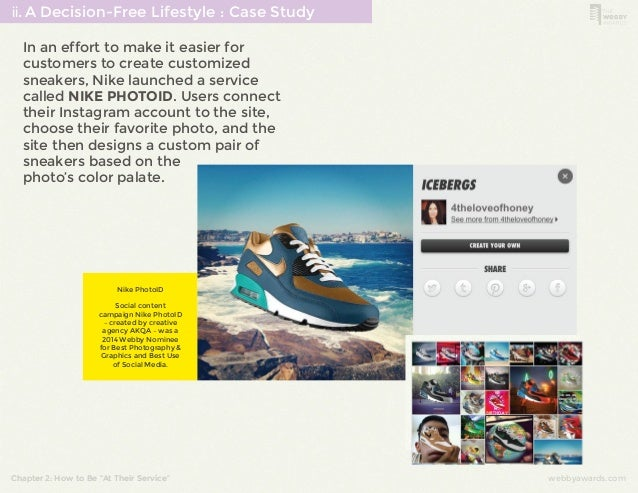 ⅱ. A Decision-Free Lifestyle : Case Study  In an effort to make it easier for  customers to create customized  sneakers, N...