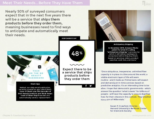 Meet Their Needs...Before They Have Them  Nearly 50% of surveyed consumers  expect that in the next five years there  will...