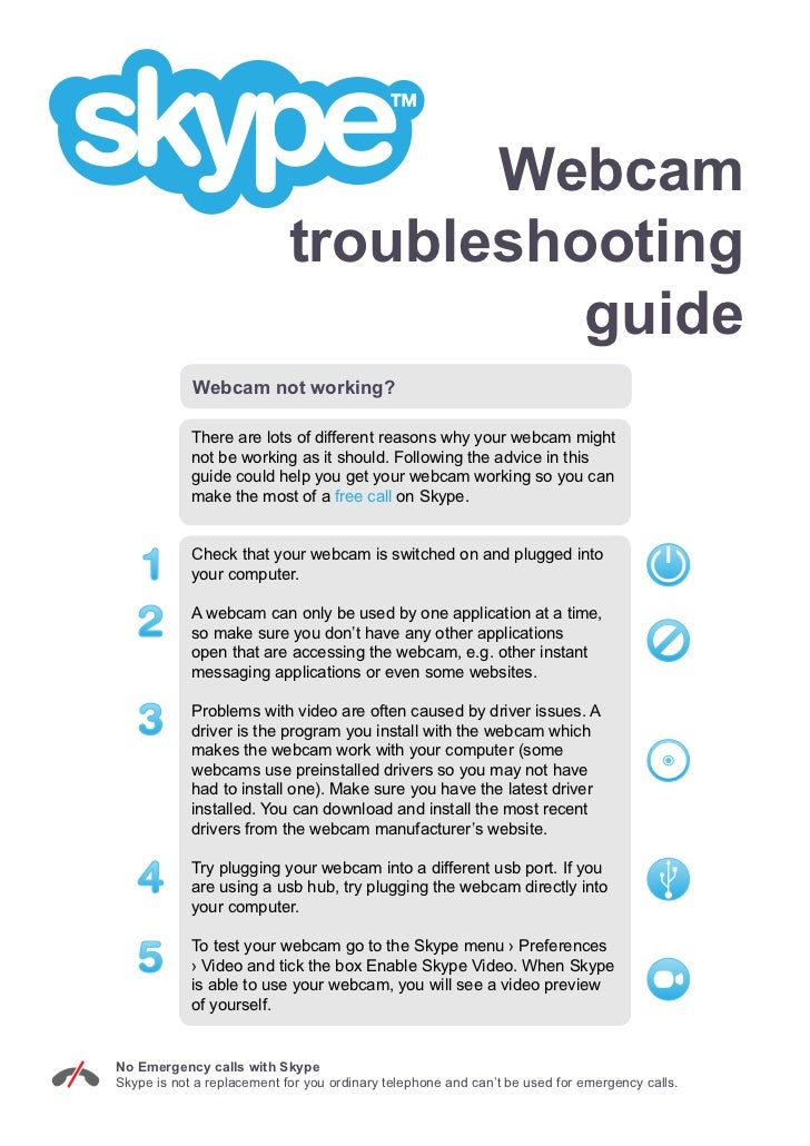 Webcam Troubleshooting Guide