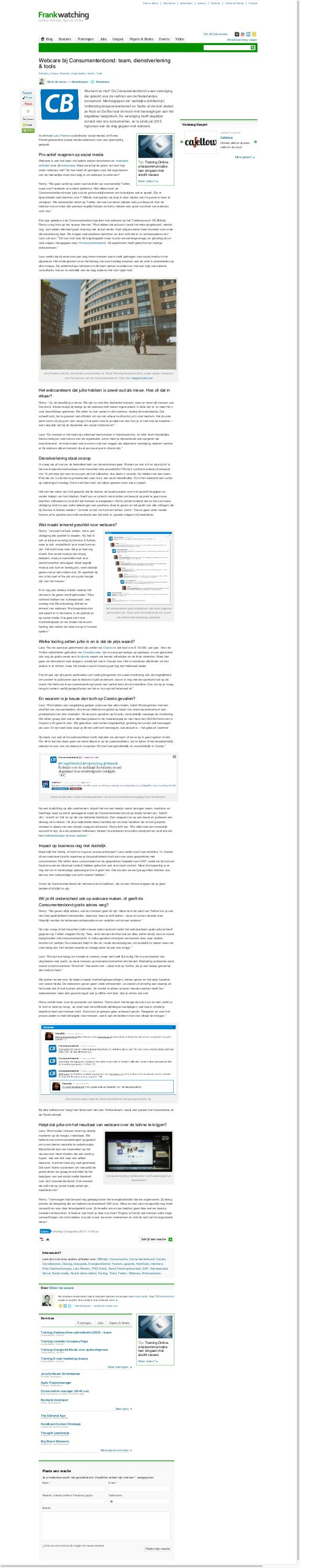 Over & About Abonneren Adverteren Auteurs Partners Terms & Policies Contact 163.483 abonnees @frankwatching volgen Wie ken...