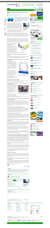 Over & About Abonneren Adverteren Auteurs Partners Terms & Policies Contact 162.789 abonnees @frankwatching@frankwatching ...