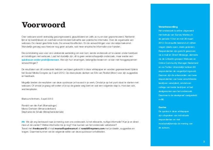 Webcare in Nederland, een quickscan Slide 3