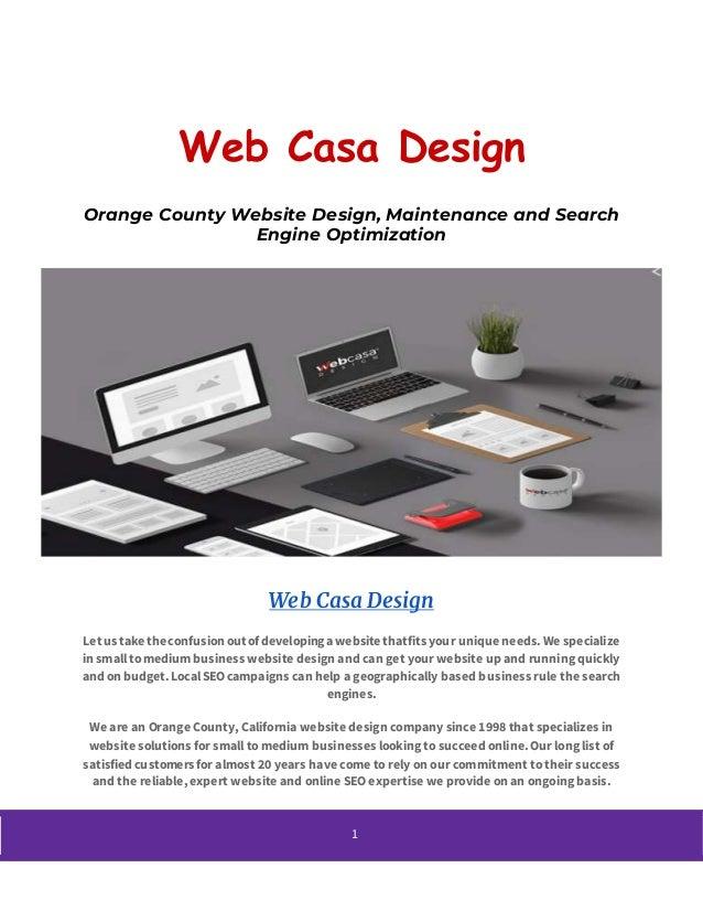 Seo Company In Orange County Webcasa