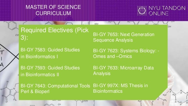 master thesis in bioinformatics In the second course of the master, students are required to complete a master  thesis or project this internship offers the student the opportunity to become.