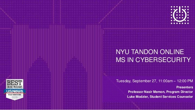 Online MS in Cybersecurity at NYU
