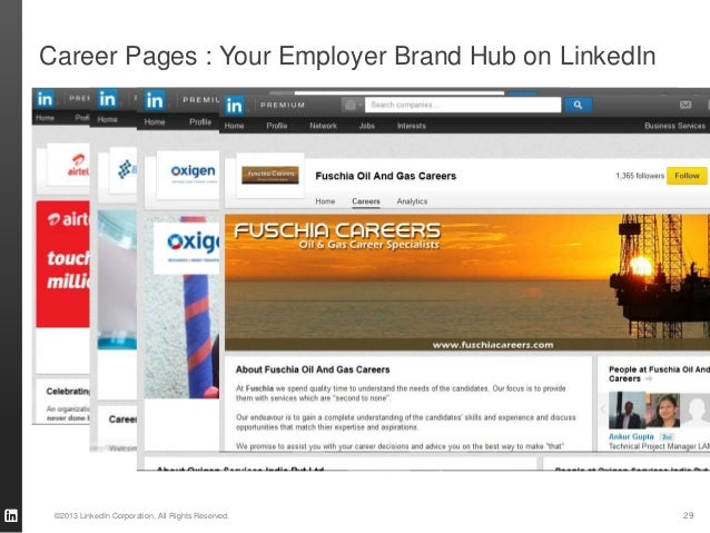 29©2013 LinkedIn Corporation. All Rights Reserved. Career Pages : Your Employer Brand Hub on LinkedIn