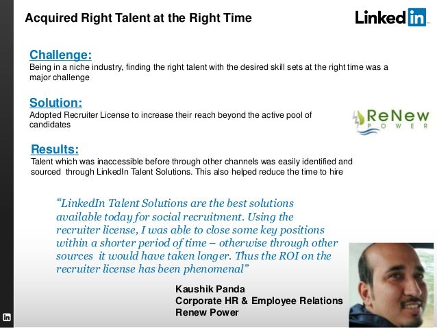 """TALENT SOLUTIONS """"LinkedIn Talent Solutions are the best solutions available today for social recruitment. Using the recru..."""