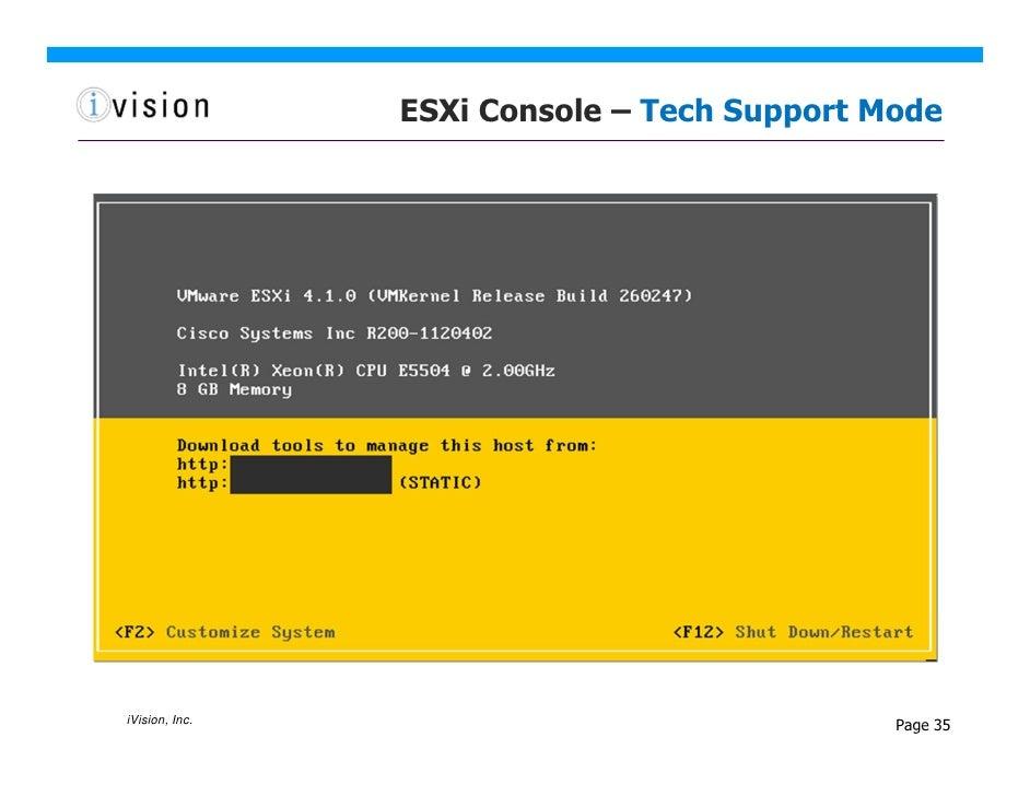 Managing ESXi - Tools and Techniques