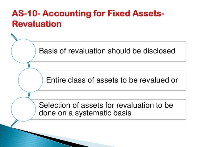 Accounting standard 10 accounting for fixed