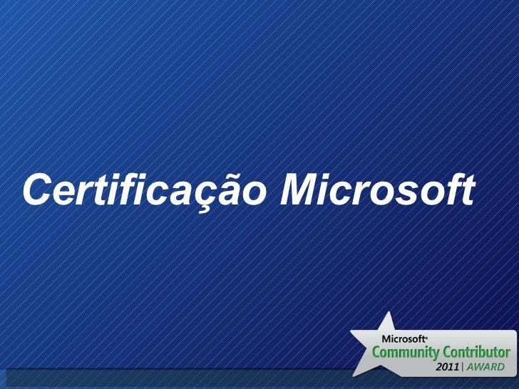 Certificação Microsoft