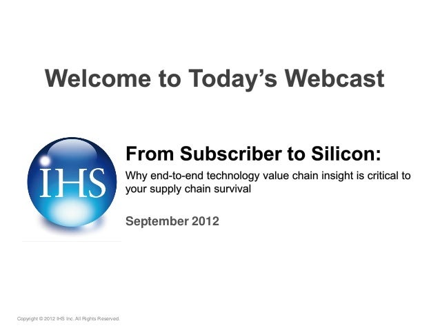 September 2012Copyright © 2012 IHS Inc. All Rights Reserved.