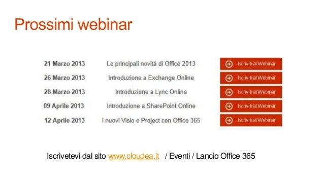 Webcat 19 marzo office 365 e office 2013 v1 Slide 3